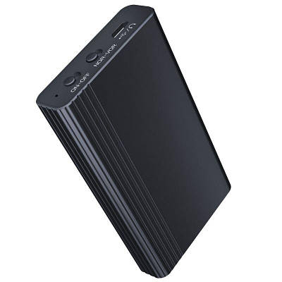 Цифровой диктофон с большим временем работы и записи до 500 часов Savetek L1, micro SD до 128 Gb
