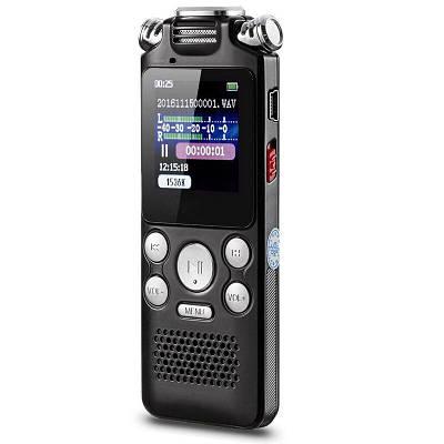 Цифровий диктофон з таймером для запису голосу Noyazu voice recorder V59, стерео, 8 Гб, чорний