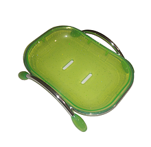 Мильниця настільна (пластик зелений)
