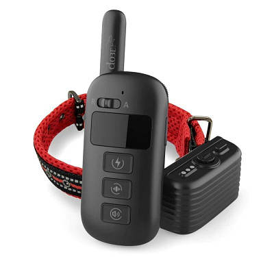 Электронный ошейник для собаки для дрессировки + антилай 2 в 1 Dobe DB 500, красный ремешок