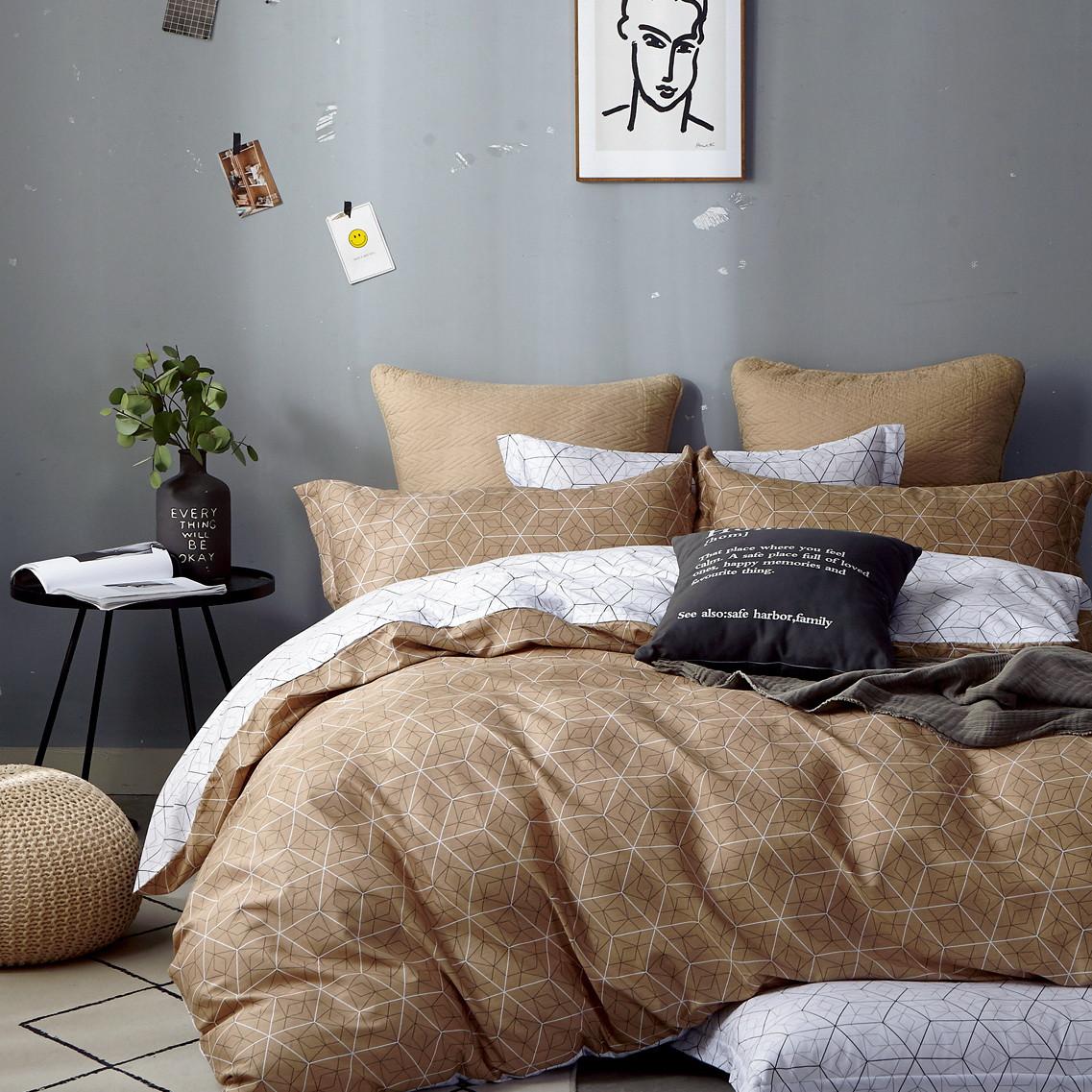 Комплект постільної білизни Bella Villa євро Сатин 200 x 220 B-0293 Eu