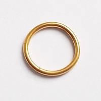Кільце сегментне 10мм для пірсингу сосків. Сталь 316L,.золоте анодування.(ціна за 1шт), фото 1