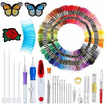 Набор для вышивания DIY 136 предметов для вышивки Нитки инструменты и аксессуары наборы для вышивания крестом