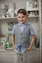 Детский нарядный жилет для мальчика Baby Band Италия 2038 / g Серый