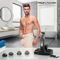 Машинка для стрижки волосся бороди усов тример з бритвеної насадкою Profi Care PC-BHT 3014