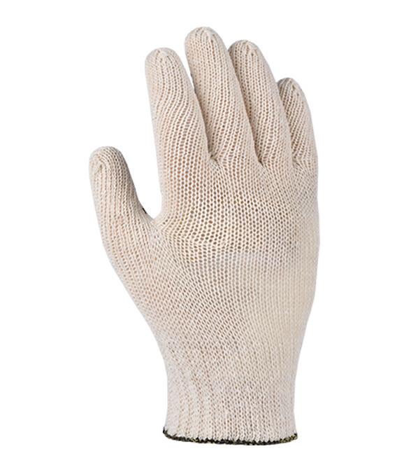 Перчатки рабочие белые с ПВХ точкой 7 класс (15200) DOLONI