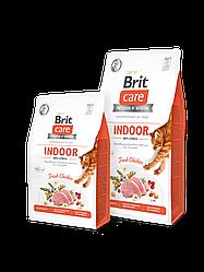 Сухой корм  Brit Care Cat GF Indoor Anti-stress для кошек живущих в помещении (курица)