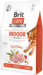 Сухой корм  Brit Care Cat GF Indoor Anti-stress для кошек живущих в помещении (курица) 7 кг