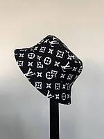 Мужская стильная панама двухсторонняя (LOUIS VUITTON) black/ 58 размер
