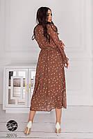 Шифоновое платье миди с длинными рукавами на резинке с 44 по 50 размер, фото 4