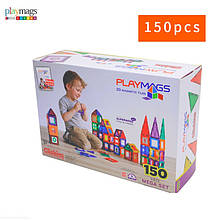 Магнітний конструктор 3D PLAYMAGS 150 елементів ігровий набір