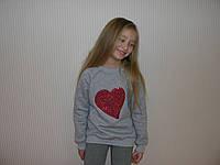 """Джемпер с пайетками """"сердце"""", фото 1"""