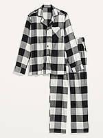 Мужская фланелевая пижама Old Navy art179536 (Белый/Черный, размер XL)