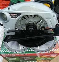 Пила циркулярная Минск МПД-2150, два диска в комплекте диаметром 185 мм , мощность 2150 Вт,