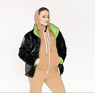"""Куртка жіноча демісезонна без капюшона """"Санта"""", фото 2"""