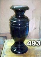 Гранитная ваза на кладбище, вазы из гранита на могилу образец № 493