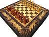 Шахматы с нардами с резьбой по дереву