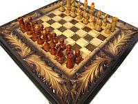 Шахматы с нардами с резьбой по дереву, фото 1
