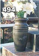 Гранитная ваза на кладбище, вазы из гранита на могилу образец № 494
