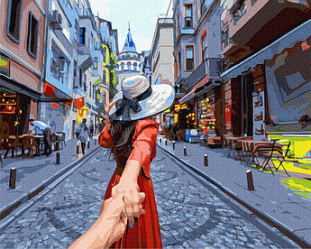 Картина за номерами Слідуй за мною. Стамбул 40 х 50 см (BK-GX37985)