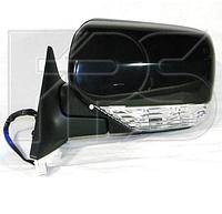 Зеркало лев. эл. с обогр. грунт. выпукл. 8 PIN +УК. пов. +подствет. Subaru Forester 2006-08