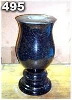 Гранитная ваза на кладбище, вазы из гранита на могилу образец № 495