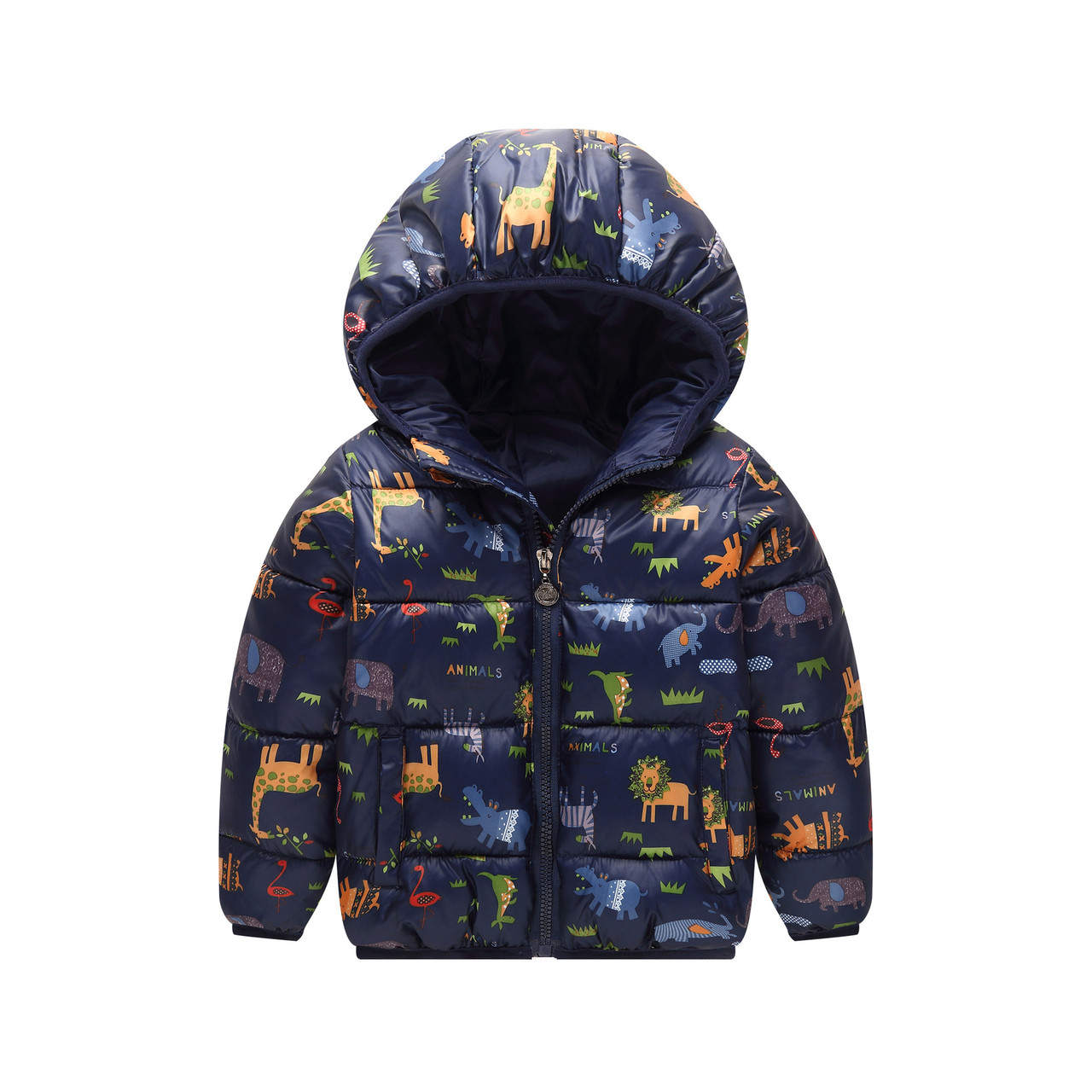 Детская куртка с крутым принтом животных