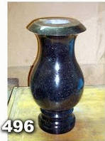 Гранитная ваза на кладбище, вазы из гранита на могилу образец № 496