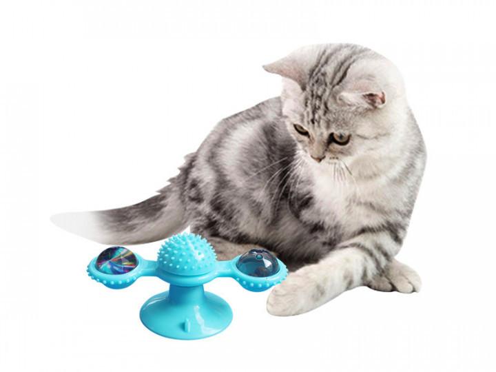 Игрушка для кошек ВЕТРЯНАЯ МЕЛЬНИЦА с щеткой для зубов