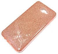 Чохол силіконовий Shiny з блискітками для Samsung Galaxy J5 Prime G570f Рожевий