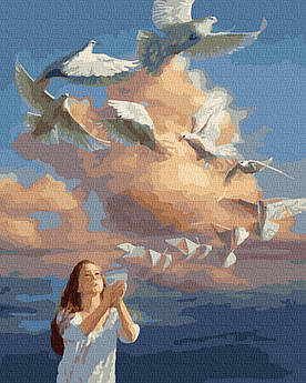 Картина за номерами Бумажний голуб 40 х 50 см (BK-GX39314)