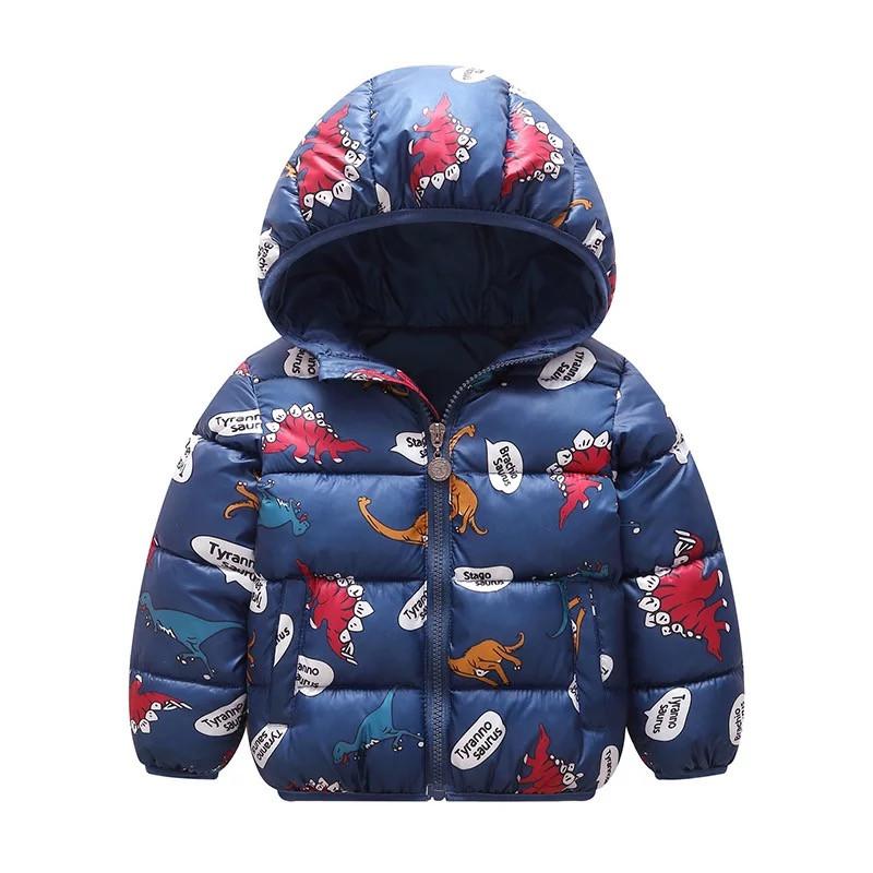 Детская куртка с крутым принтом динозаврики