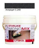 Monomix С.240 ведро 1 кг (антрацит) - однокомпонентный полиуретановый шовный заполнитель, Litokol