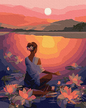Картина за номерами Медитація на заході сонця 40 х 50 см (BK-GX39307)