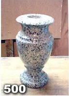 Вазы из гранита на могилу, гранитная ваза на кладбище образец № 500