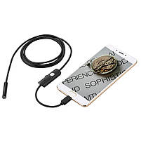 Камера эндоскоп с кабелем на 1 метр 5.5 мм USB/micro USB/Type C с подсветкой (мягкий провод) (17459), фото 3