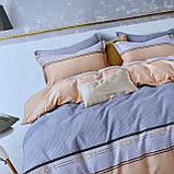 Сатиновое постельное белье Евро комплект высокого качества, мягкое и приятное на ощупь, фото 3