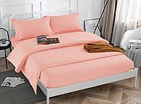 Комплект постельного белья Страйп сатин, розовый