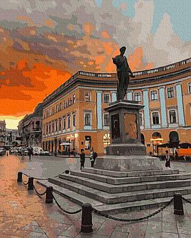Картина за номерами Пам'ятник Дюку де Рішельє 40 х 50 см (BK-GX39131)