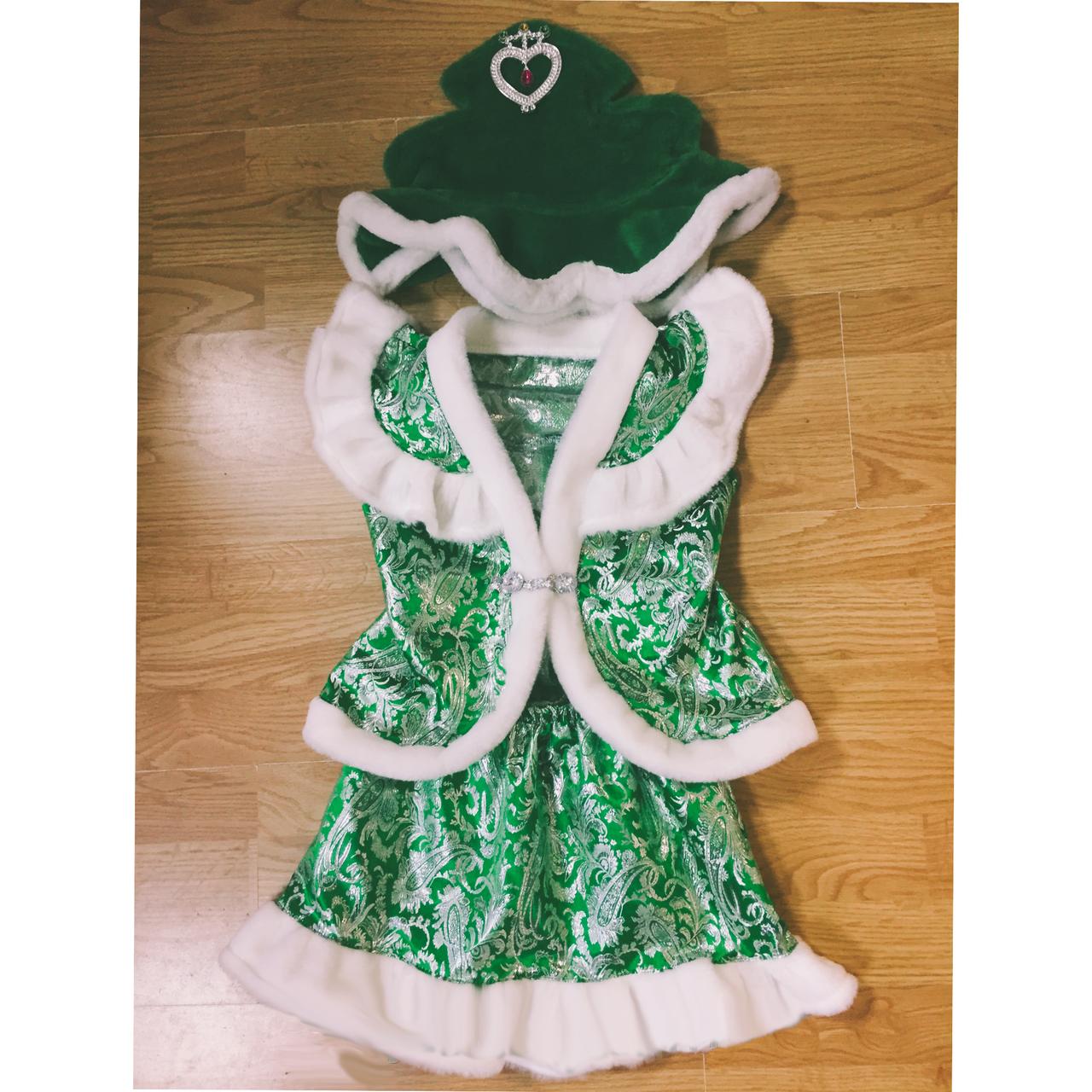 Детский карнавальный костюм Елочка Елка Ель парча - купить ... - photo#40
