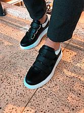 Мужские кроссовки. Кожаные кроссовки на липучках.