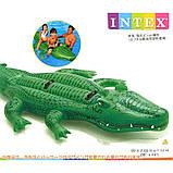 Дитячий пліт надувний матрац для плавання Крокодил Intex арт.58562. Пляжні надувні матраци, фото 4