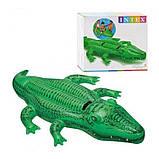 Дитячий пліт надувний матрац для плавання Крокодил Intex арт.58562. Пляжні надувні матраци, фото 3
