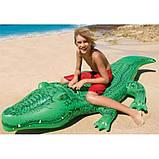 Дитячий пліт надувний матрац для плавання Крокодил Intex арт.58562. Пляжні надувні матраци, фото 5
