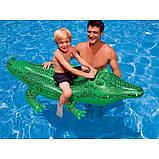Дитячий пліт надувний матрац для плавання Крокодил Intex арт.58562. Пляжні надувні матраци, фото 6