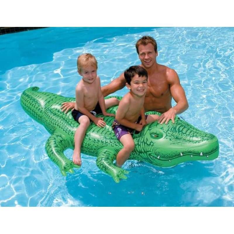 Дитячий пліт надувний матрац для плавання Крокодил Intex арт.58562. Пляжні надувні матраци