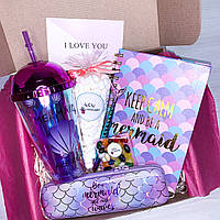 Подарочный бокс для девочки с канцелярией Wow Boxes «Mermaid Box #4»