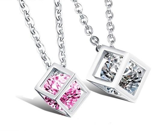 Парні кулони для закоханих Алмазний куб