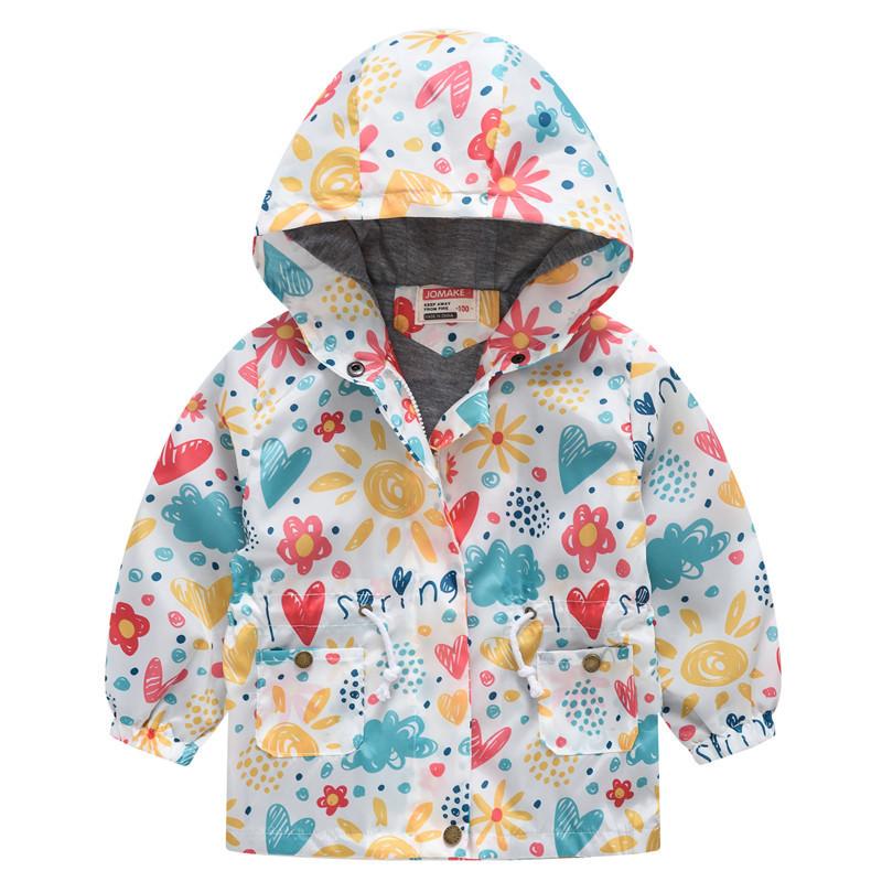 Куртка дитяча вітровка з яскравим літнім принтом
