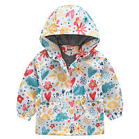 Детская куртка ветровка с ярким летним принтом